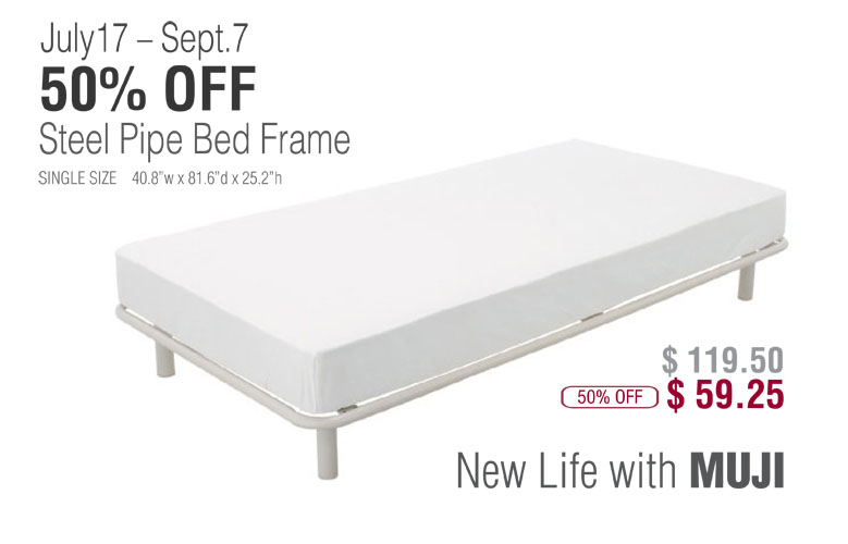 summer special promotion steel pipe bed frame at 50 off