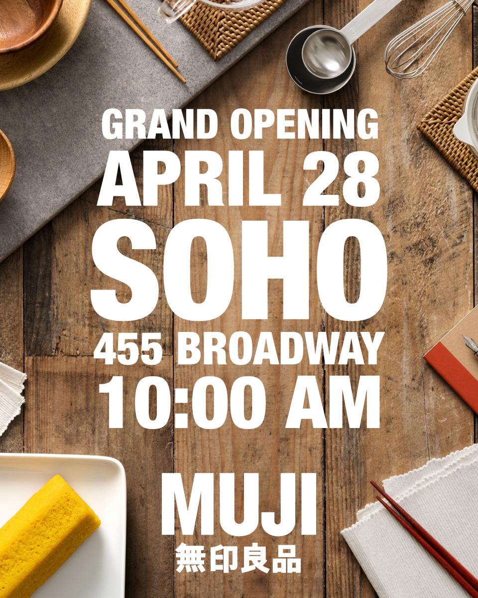 MUJI - SOHO Announcement