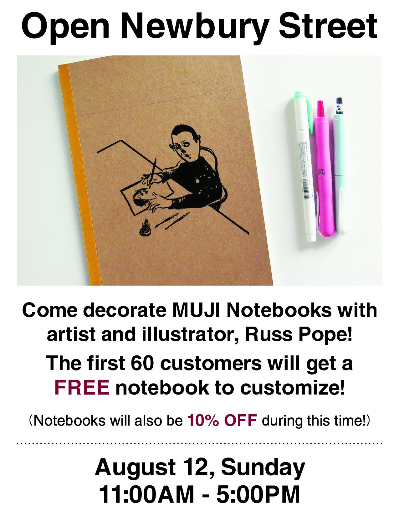 8.5x11in POP - Open Newbury Street - Notebook