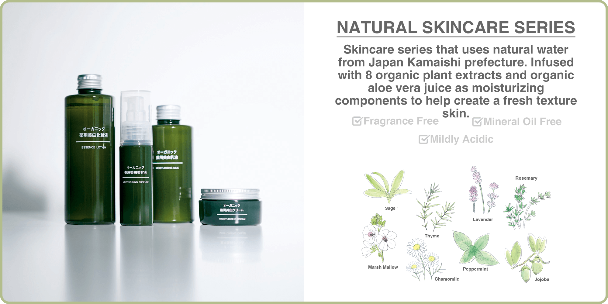 Natural skincare series
