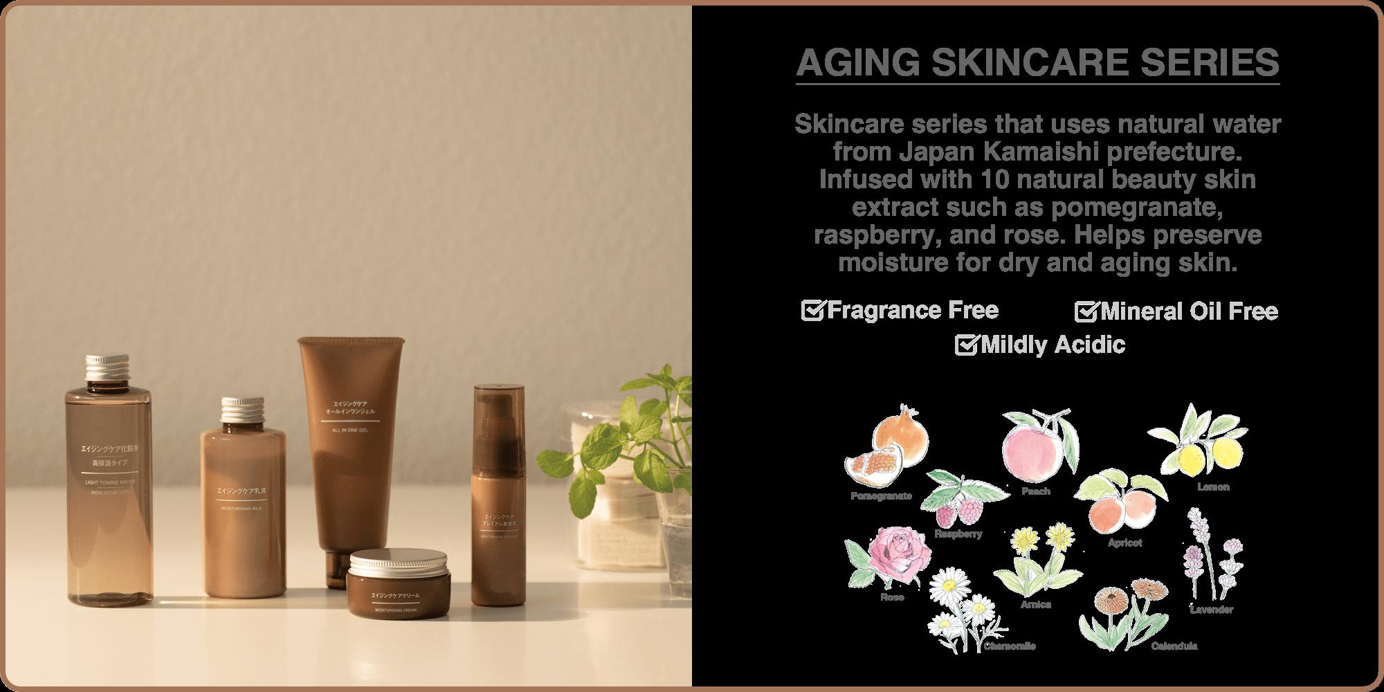 Aging skincare series