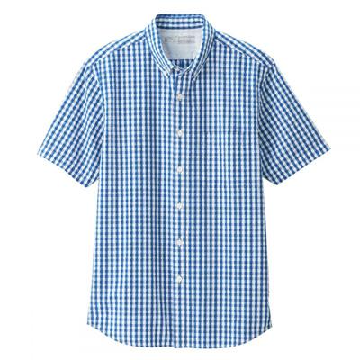 0ec2bc3ddec68e ... Men Organic Cotton Seersucker Short Sleeve Shirt $29