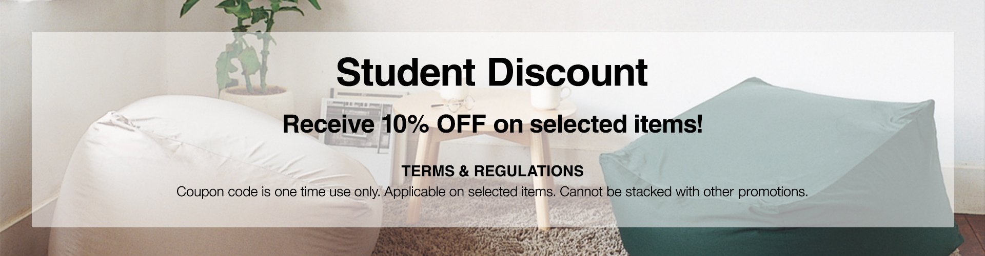 Student Discount Banner